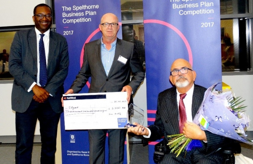 Spelthorne Business Plan Winners 2017 - George Goodger & Adam Wright